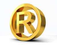 版权登记的R 库存图片