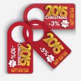 价牌折扣 标签销售集合 新年好 免版税库存照片