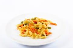 牌照和意大利面食 免版税库存照片