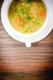 牌照汤菜白色 库存图片