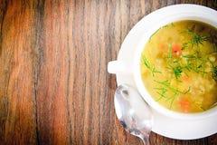 牌照汤菜白色 免版税图库摄影