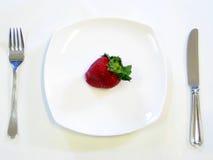 牌照草莓 免版税库存图片