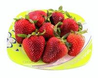 牌照草莓 图库摄影