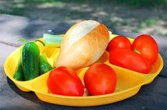 牌照蔬菜 免版税图库摄影