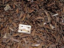 牌照铁路报废钢关系 库存图片