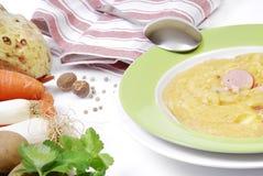 牌照potatoe炖煮的食物 免版税库存照片