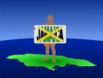 牙买加人映射 向量例证