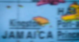 牙买加在地球的国家地图 股票视频
