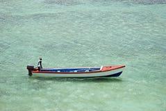 牙买加小船的上尉 免版税图库摄影