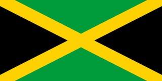牙买加旗子传染媒介例证 库存例证