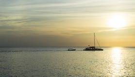 牙买加日落 免版税库存照片