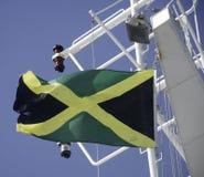 牙买加标志飞行 免版税库存图片
