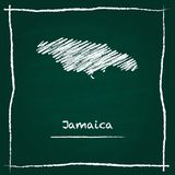 牙买加概述传染媒介地图手拉与白垩 皇族释放例证