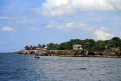 牙买加海岛,西海岸加勒比海 免版税图库摄影