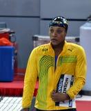 牙买加游泳者和奥林匹亚Alia阿特金森果酱 免版税库存图片