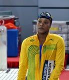 牙买加游泳者和奥林匹亚Alia阿特金森果酱 库存照片