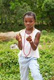 牙买加的女孩 免版税库存照片