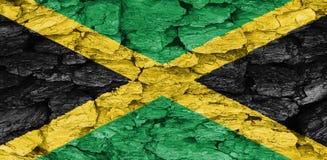 牙买加的旗子的纹理 库存图片