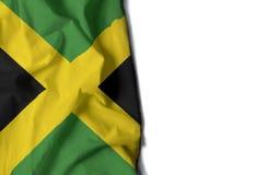 牙买加起皱纹的旗子,文本的空间 免版税库存照片