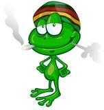 牙买加青蛙动画片 向量例证
