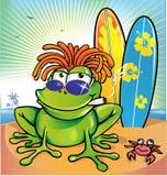 牙买加青蛙夏天 向量例证