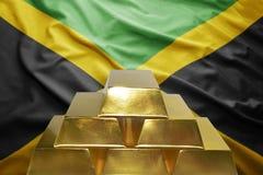牙买加黄金储备 库存照片