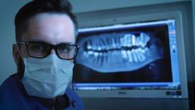 牙医学习下颌的X-射线3D图象 影视素材