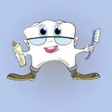 牙和牙膏 库存例证