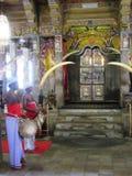 牙寺庙在康提/斯里兰卡 免版税库存图片
