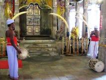 牙寺庙在康提/斯里兰卡 免版税图库摄影