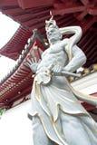 牙寺庙新加坡的面貌古怪的人 图库摄影