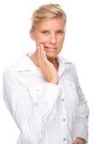 牙痛妇女 免版税图库摄影