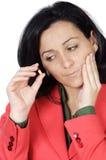 牙痛妇女 免版税库存照片