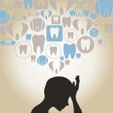 牙痛 向量例证