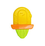 牙的塑料明亮的玩具teether 免版税图库摄影