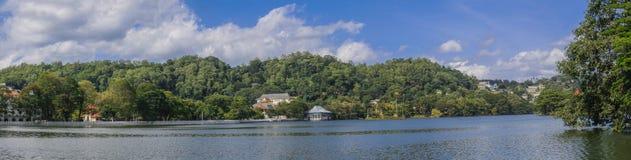 牙的寺庙,康提,斯里兰卡 风景,佛教 免版税库存图片