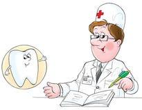 牙科医生例证 库存照片