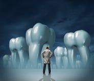 牙科医生和牙齿保护 库存例证