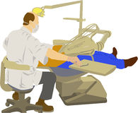 牙科医生工作 皇族释放例证