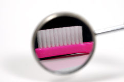 牙科医生镜子 免版税库存照片