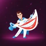 牙科医生魔术师 向量例证