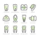 牙科线的象 免版税库存照片
