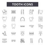 牙线象,标志,传染媒介集合,概述例证概念 库存例证