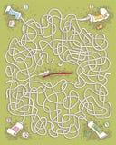 牙膏孩子的迷宫比赛 免版税库存图片