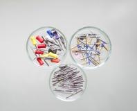 牙髓学的设备:牙齿钻眼工人和根管锉Protaper 库存图片