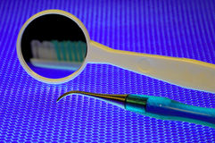 牙齿仪器 免版税图库摄影