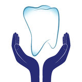 牙齿保护传染媒介例证 免版税库存图片