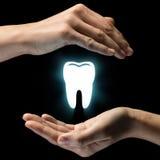 牙齿保护的概念 免版税库存照片