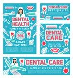 牙齿保护诊所和牙科体检 皇族释放例证