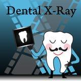 牙齿光芒x 库存例证